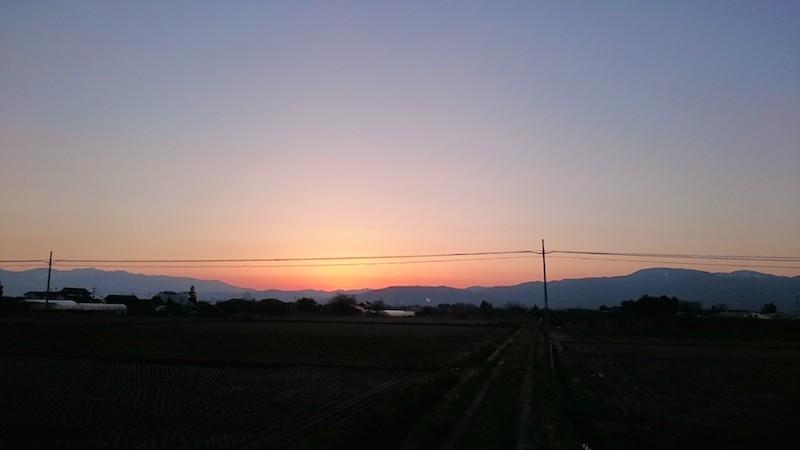 梁川の夕日1