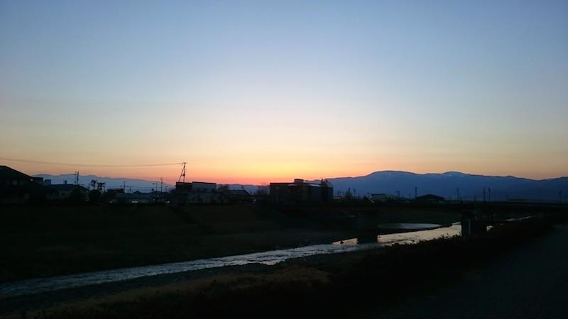 梁川町の夕日3