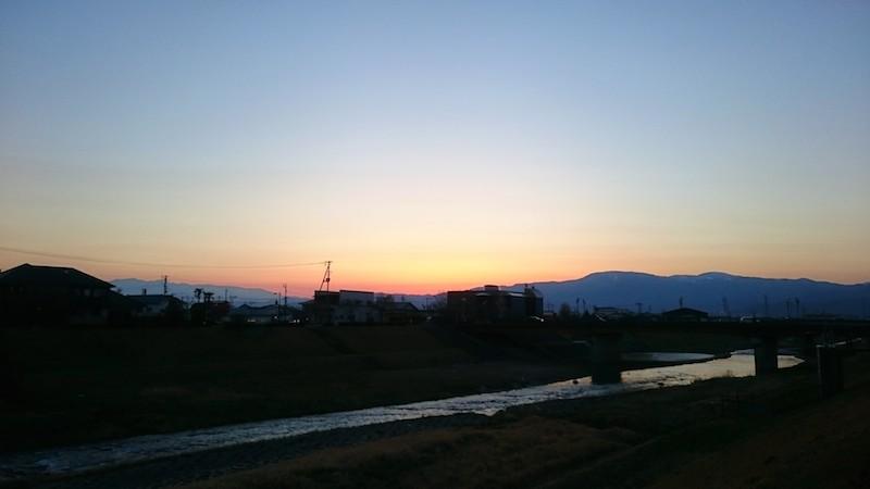 梁川町の夕日4