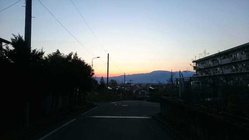 梁川の夕日5