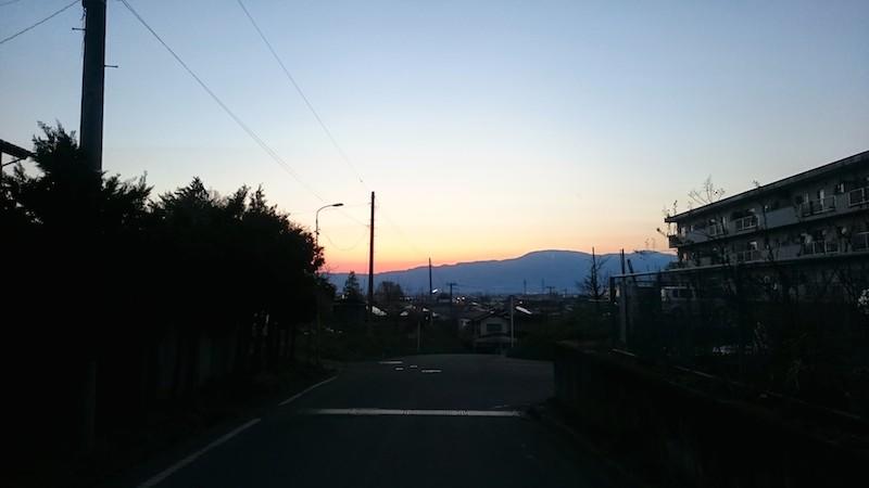梁川の夕日6